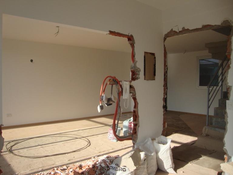 demolicion parcial cocina
