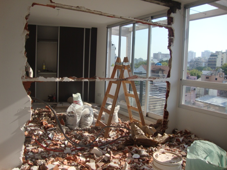 demolición tabique dormitorios